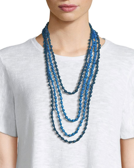 Bindu Silk Multi-Strand Necklace