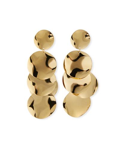 Plated Brass Petal Drop Earrings
