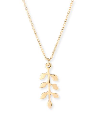 Medaille Leaf Pendant Necklace