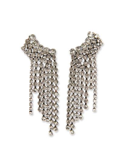 Plated Brass Statement Waterfall Earrings