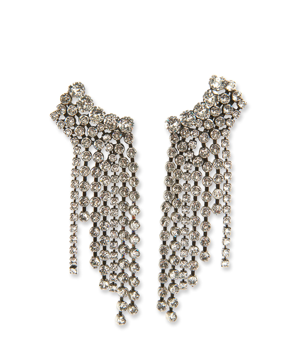 Plated Brass Statement Waterfall Earrings by Etoile Isabel Marant