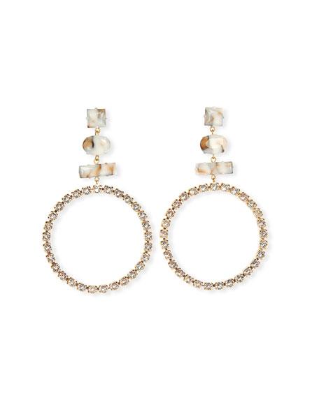 Etoile Isabel Marant Resin Hoop Drop Earrings
