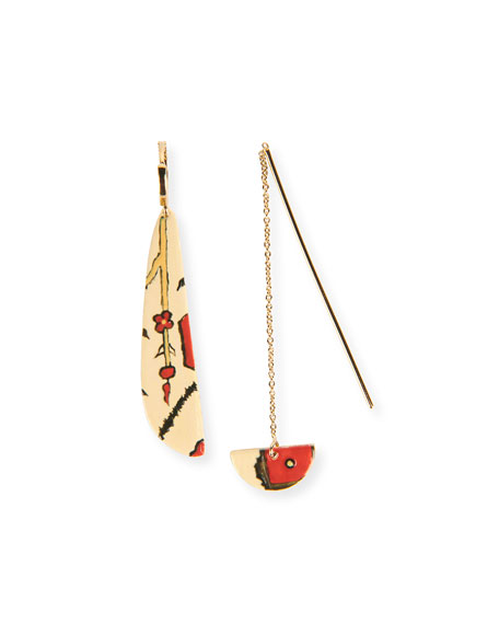 Etoile Isabel Marant Painted Mismatched Threader Earrings