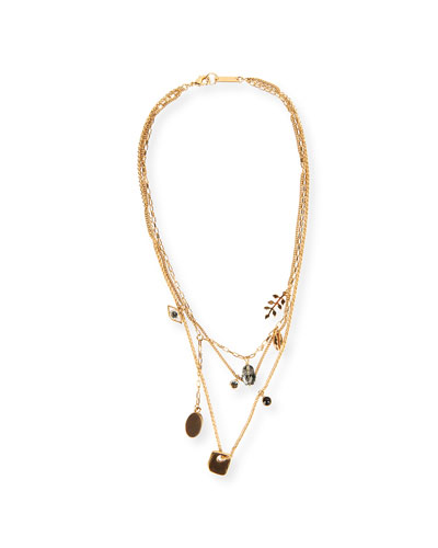 Plated Triple-Strand Necklace