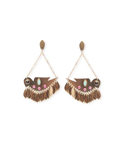 Statement Brass Drop Earrings