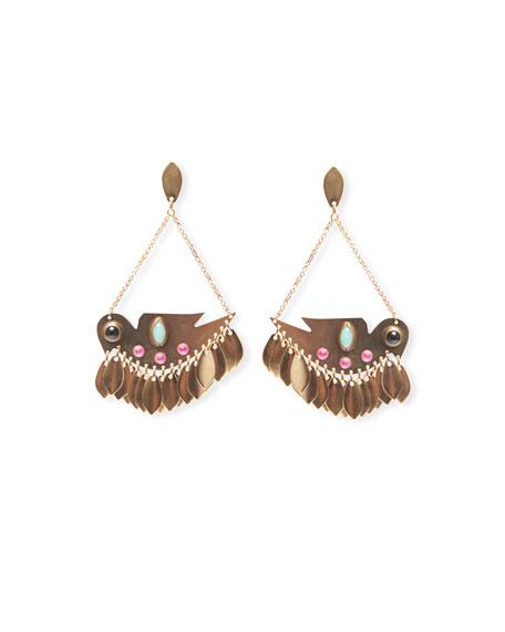 Etoile Isabel Marant Statement Brass Drop Earrings