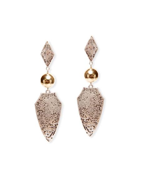 Etoile Isabel Marant Antiqued Brass Drop Earrings