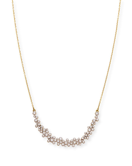 JUDE FRANCES Provence 18K Diamond-Bezel Necklace in Gold