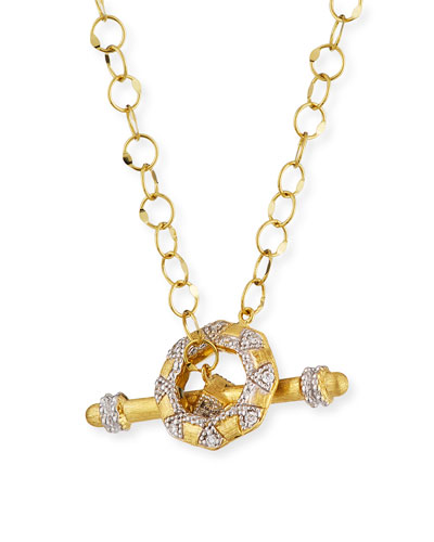Lisse 18k Diamond Toggle Necklace  18L