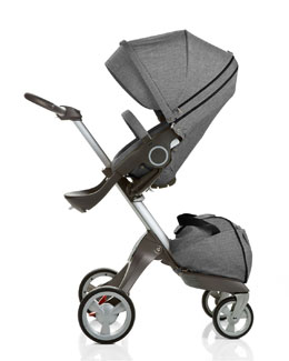 Stokke Xplory® Adjustable-Height Stroller, Black Melange