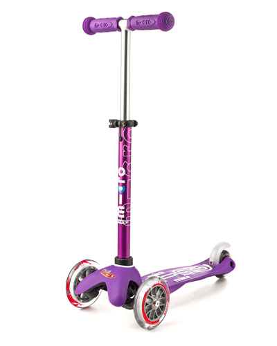Micro Mini Deluxe Kick Scooter, Purple, Ages 2-5