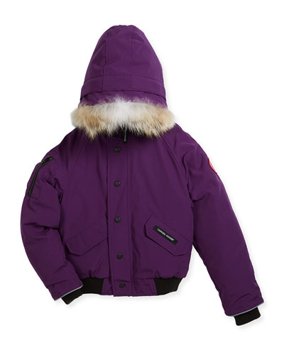 Rundle Hooded Down Bomber Jacket, Size XS(6-7)-XL(12-14)