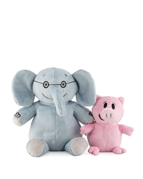 Elephant & Piggie Plush Animals