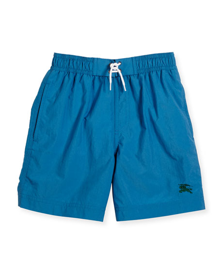Burberry Galvin Swim Trunks, Blue, Size 4-14