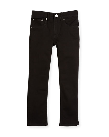 Burberry Skinny Stretch Denim Jeans, Black, Size 4-14