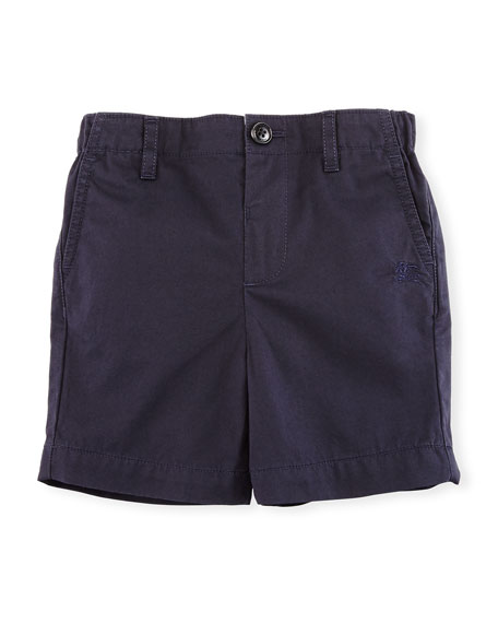 Burberry Lightweight Cotton Chino Shorts, Blue, Size 6M-3