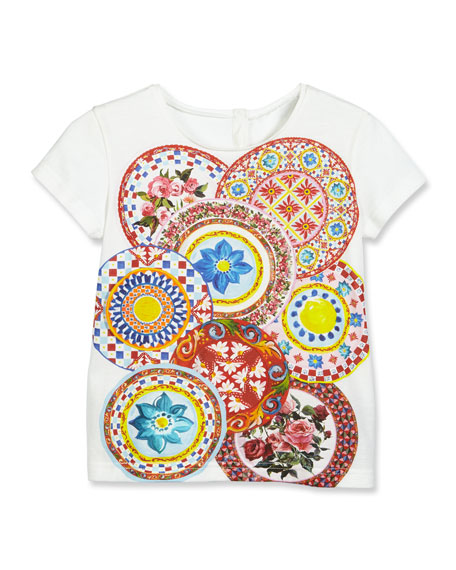 Dolce & Gabbana Mambo Plate Short-Sleeve Jersey Tee,