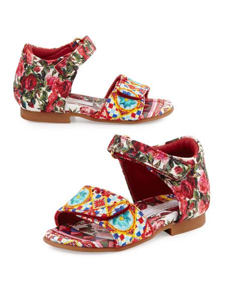 Dolce & Gabbana Grip-Strap Mambo Sandal, Multicolor,