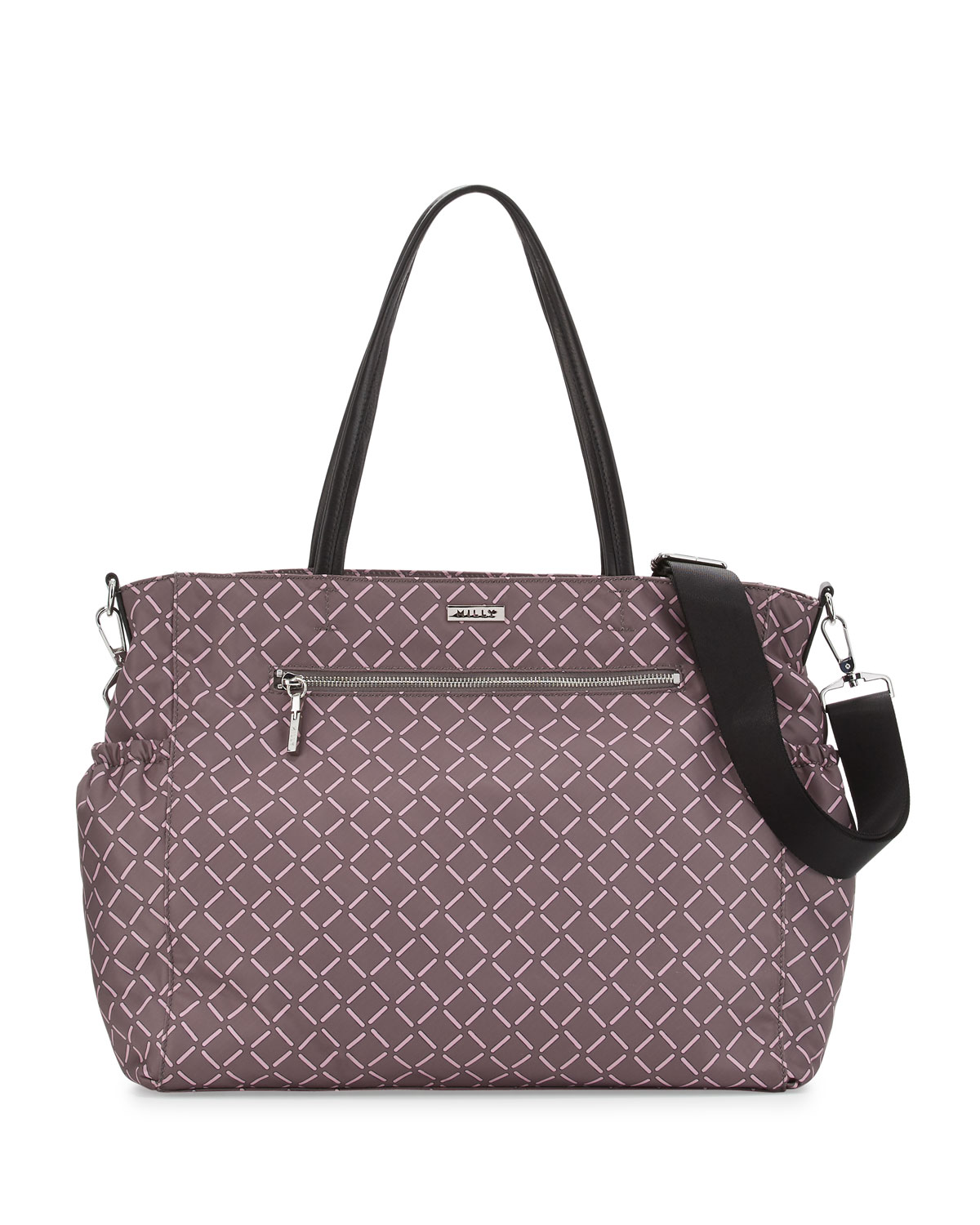 Printed Diaper Bag Gray