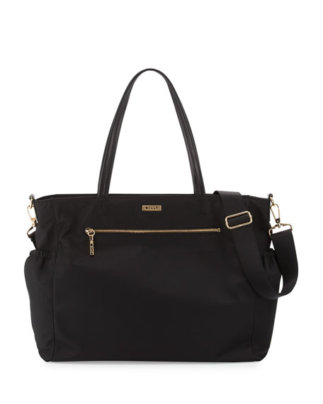Milly Minis Solid Diaper Bag, Black