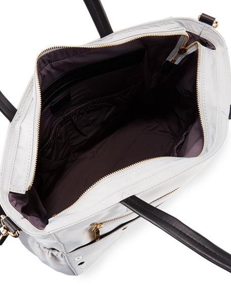 Grommet Diaper Bag, Gray