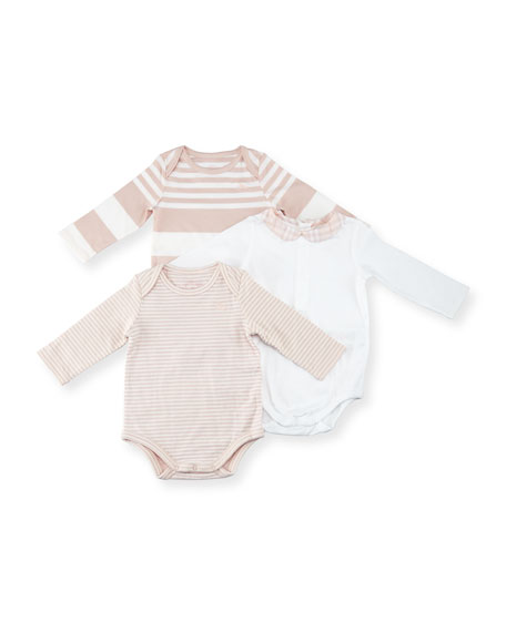 Maxina Set 3 Long-Sleeve Layette, Pink, Size Newborn-12 Months