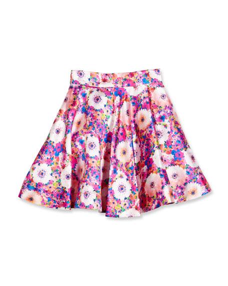 Oscar de la Renta Floral Mikado Circle Skirt,