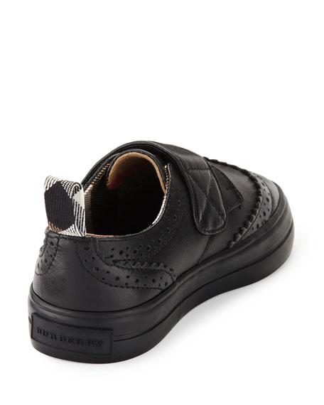 Mostyn Leather Grip-Strap Oxford, Black, Toddler
