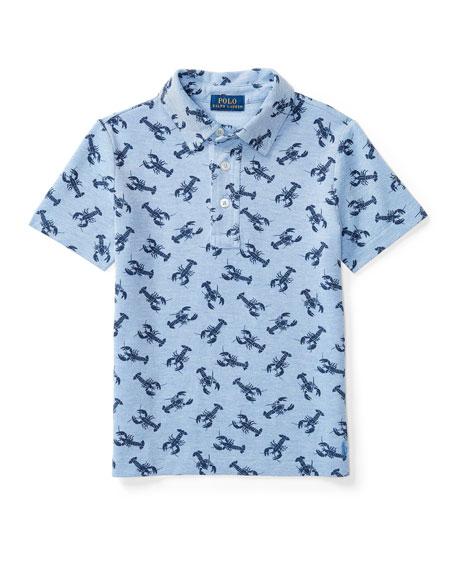 Ralph Lauren Childrenswear Short-Sleeve Mesh Lobster Polo Shirt,