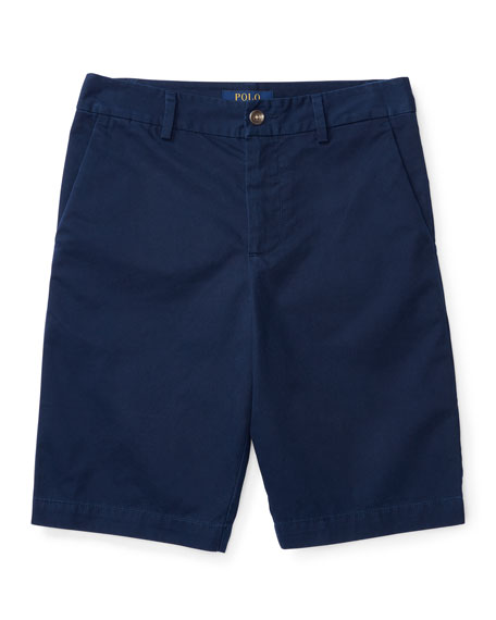 Ralph Lauren Childrenswear Twill Shorts, Blue, Sizes 2-4