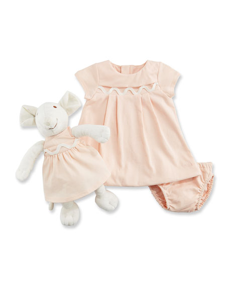 Chloe Dress, Bloomers & Mouse Toy Gift Set,