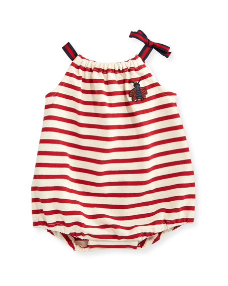 Sleeveless Striped Jersey Playsuit, Multicolor, Size 3-18 Months