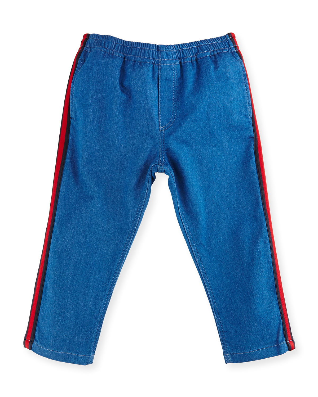 bc15d38e63d85d Gucci Felted Jersey Denim Track Pants