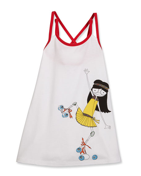 Little Marc Jacobs Miss Marc Strappy Swim Coverup,