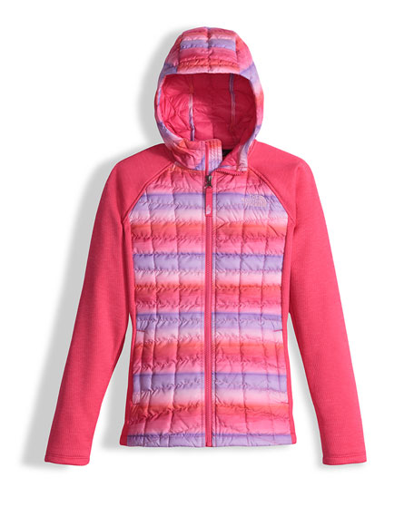 The North Face Arcata Hooded Mixed-Media Puffer Jacket,