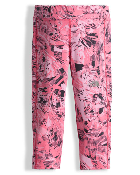 The North Face Pulse Spiro Capri Pants, Pink,