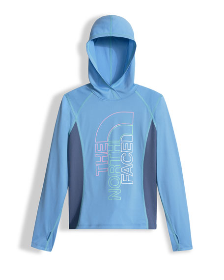 The North Face Reactor Hooded Jersey Tee, Blue,