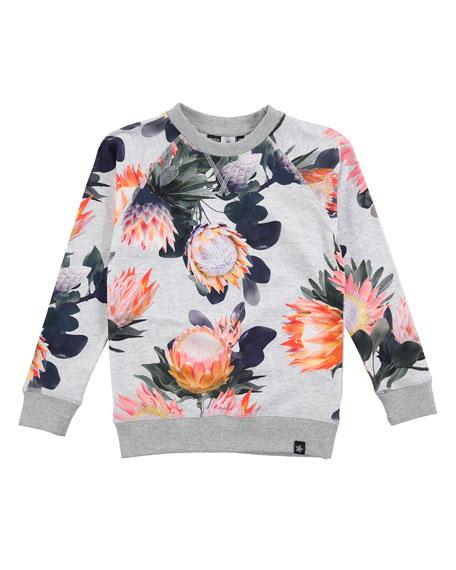 Raewyn Floral-Print Sweatshirt, Sizes 3-12
