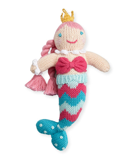 Cotton Mermaid Rattle, Multicolor