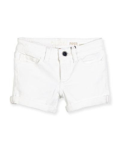 Girls' Piper Cuffed Denim Shorts  Griffon  Size 7-16