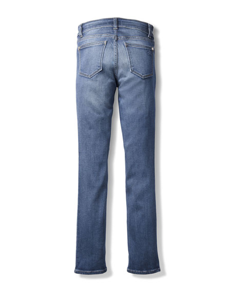 Chloe Skinny Mid-Rise Faded Jeans, Size 7-16