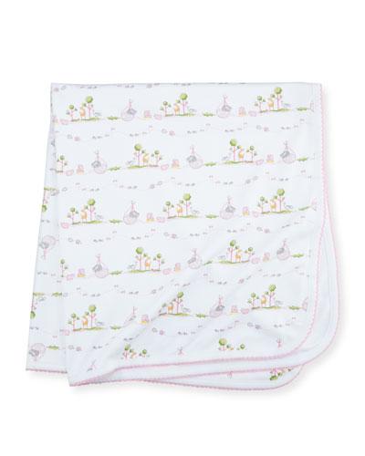 Noah's Ark Printed Pima Blanket