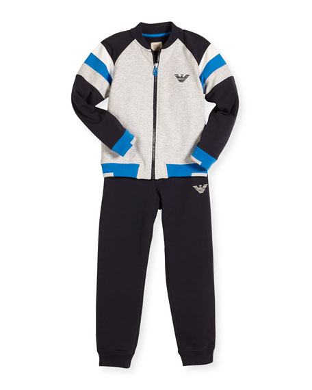 Armani Junior Stretch Jersey Track Jacket & Pants,