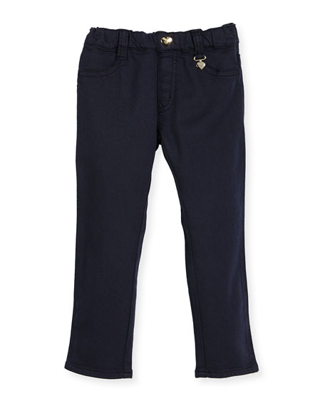 Armani Junior Stretch Denim Leggings, Blue, Size 6-24