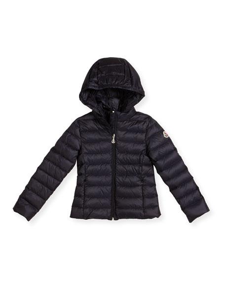 Moncler Iraida Hooded Lightweight Down Puffer Jacket, Size
