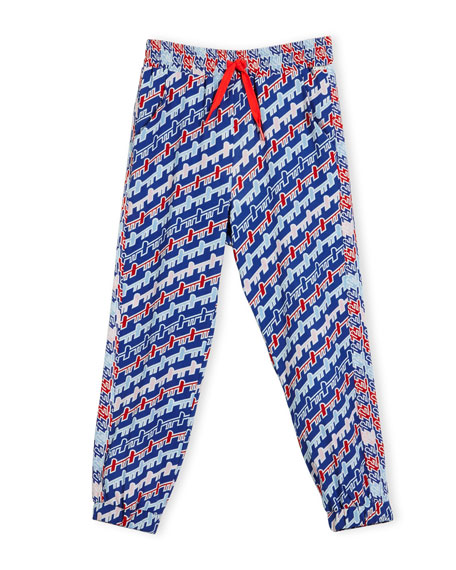Kenzo Baya Abstract Track Pants, Royal, Size 14-16