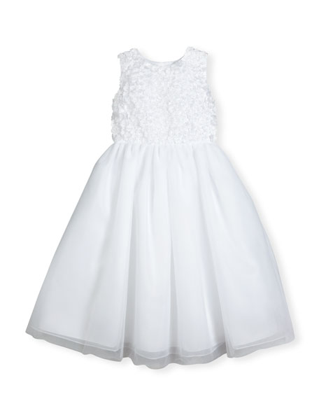 Joan Calabrese Sleeveless Floral Tulle & Organza Special