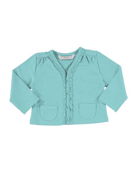 MAYORAL Soft Jersey Cardigan w/ Perfume Tee, Blue,