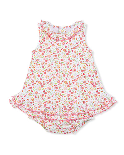 Pixie Flowers Sleeveless Play Dress, Red/White, Size 3-18 Months