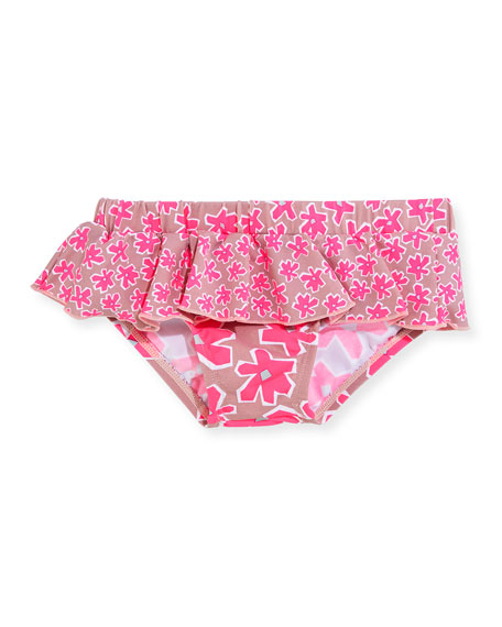 Skirted Daisy Swim Bottoms, Pink, Size 12-24 Months